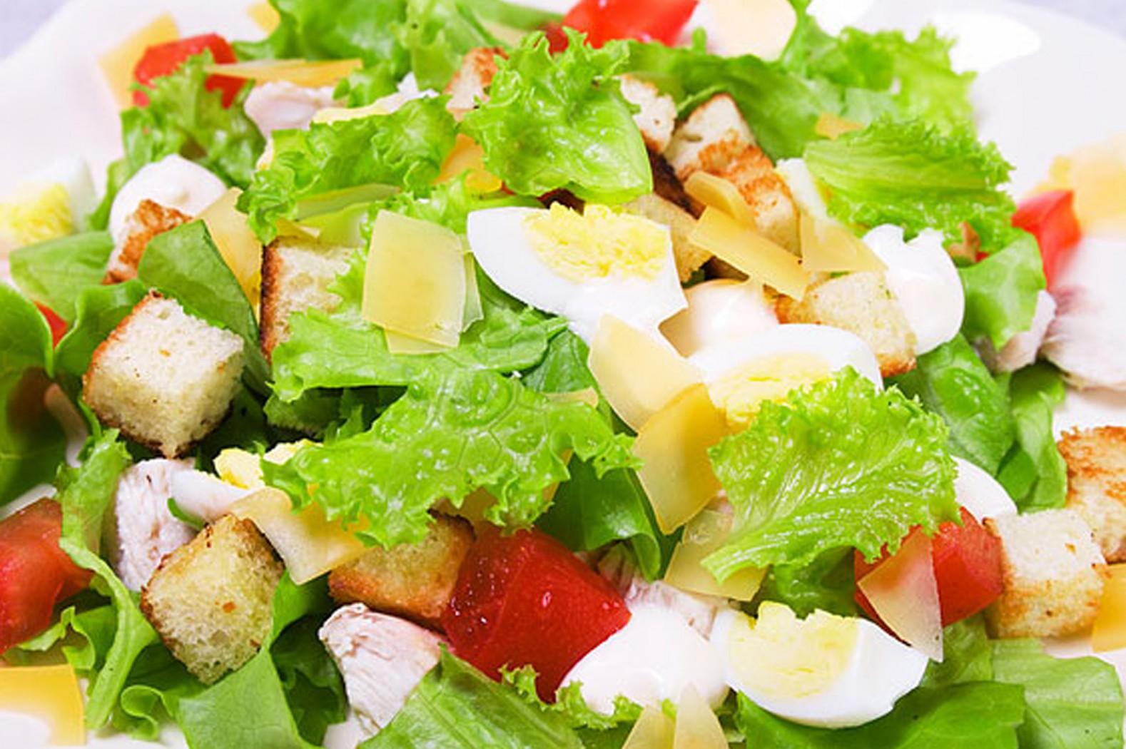 Как сделать салат цезарь